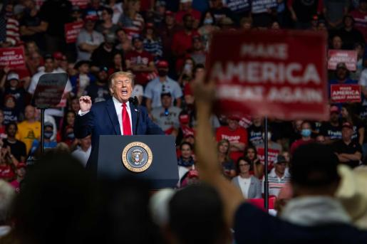El presidente de EEUU, Donald Trump, durante un acto en Tulsa