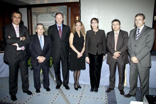 Rafael Gallego, Pedro Iriondo, Ramon Socías, Silvia Riera, Joana Barceló, Carlos Almoguera y Vicente Torres.