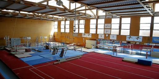 En la imagen, la sala de gimnasia del polideportivo Príncipes de España, una de las instalaciones principales del recinto ubicado en el Polígono de Son Castelló.