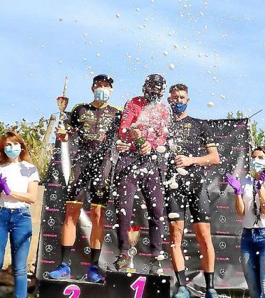 Imagen del podio tras la prueba celebrada ayer en Sant Joan.