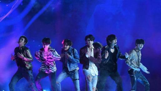 Los surcoreanos BTS, triunfadores de los MTV EMAs 2020.