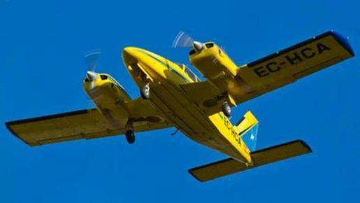 El bimotor Piper Seneca desapareció el pasado martes.