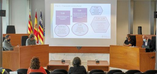 La Hoja de Ruta para la Transición Energética de Ibiza fue presentada ayer en la sala de plenos del Consell d'Eivissa.