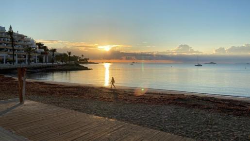 El amanecer de este miércoles en Figueretas.