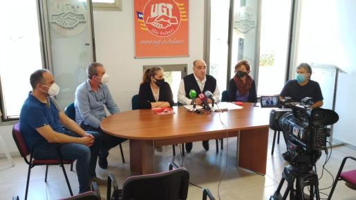 El comité de empresa del 'Diario de Ibiza' convocó ayer a los medios a una rueda de prensa.
