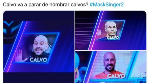 Pepe Reina, Inesta o Pep Guardiola son las propuestas más divertidas de Javier Calvo, de momento.