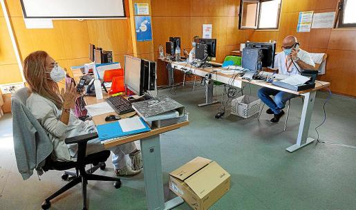 Imagen de la central de rastreo del coronavirus en Ibiza, que ha ido aumentando estos meses.