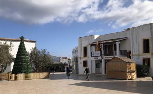 Casetas del Mercado Navideño de Formentera.