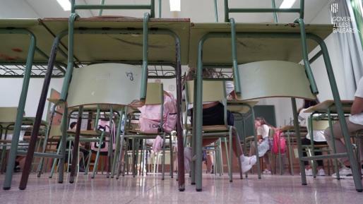 Imagen del interior de una clase.