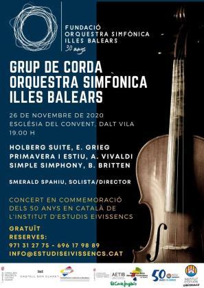 La Orquesta Sinfónica de las Islas Baleares ofrece un concierto en conmemoración de los 50 años de la reanudación del IEE.