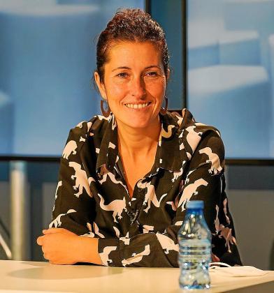 Silvia Tur, ayer en el programa de TEF TV.