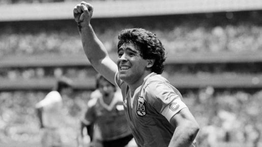 Imagen de Diego Armando Maradona en un partido.
