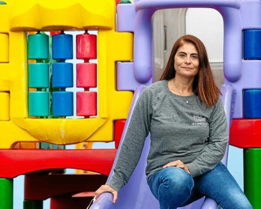 Paz Izquierdo, en las instalaciones del Centre d'Educació Infantil El Trenet Blau del que es directora desde hace diez años.