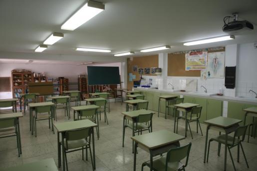 Imagen de una clase vacía.      FOTO: BOTA