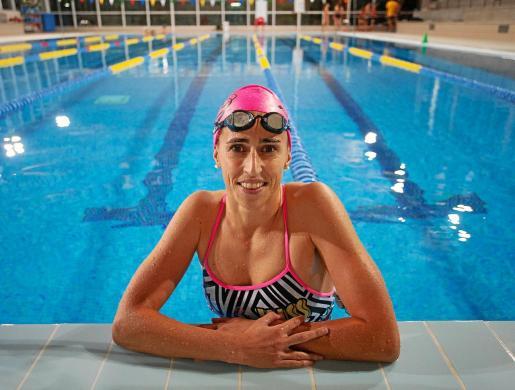 Susana Sevillano, ayer en la piscina de Santa Gertrudis.