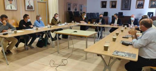 Imagen de la reunión celebrada este martes.