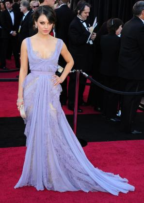 La actriz Mila Kunis, durante la 83 entrega de los premios Oscar.