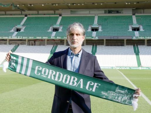 Pablo Alfaro, ayer en el Nuevo Arcángel.