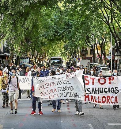 Protesta contra los desahucios del pasado noviembre.