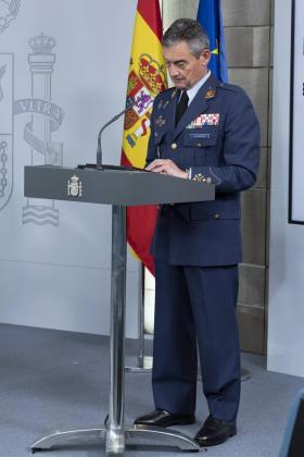 El jefe del Estado Mayor de la Defensa, Miguel Ángel Villarroya.