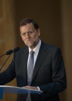 Mariano Rajoy, hoy en San Sebastián.