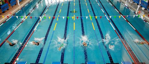 Una imagen de la jornada matinal de ayer en la piscina de es Rapallar.