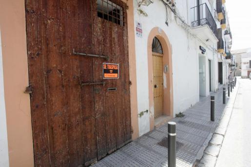 Tiendas cerradas en Ibiza como consecuencia de la pandemia.
