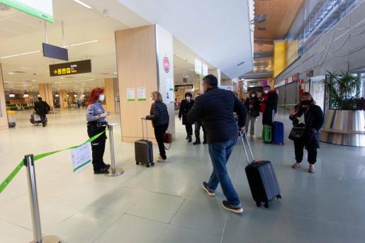 El aeropuerto de Ibiza el pasado fin de semana.