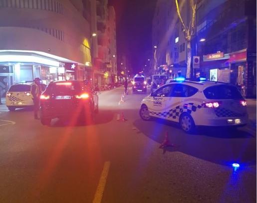 Control de la Policía Local de Ibiza.