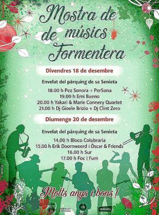 Programa del festival que se celebrará en el aparcamiento de Sa Senieta el viernes por la tarde y el domingo al mediodía.