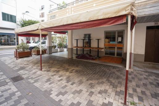 Un restaurante de Ibiza cerrado durante la pandemia.