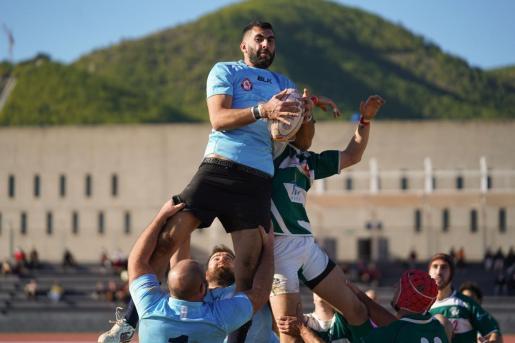 Un lance del último partido del UD Ibiza Rugby.