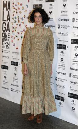 La actriz Blanca Romero posa para los medios de comunicación en la pasada edición del Festival de Cine de Málaga.