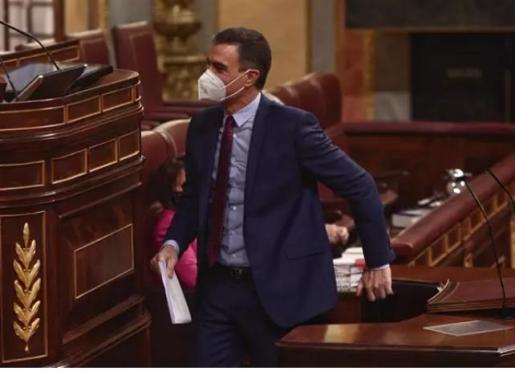Pedro Sánchez comparece en el Congreso de los Diputados.