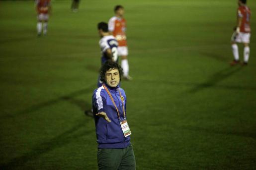 Alberto Gallego, durante el partido.