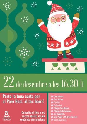 Papá Noel visitará las asociaciones de vecinos de los barrios de Vila para recibir las cartas de todos los niños.