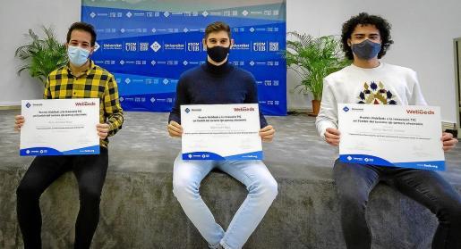 Acto de entrega de los Premios promovidos por la entidad Webbeds, que se celebró la semana pasada. Los galardones recayeron en Gabriel Barceló Soteras, Pablo González Maya y Rafael Cuart Deyà.