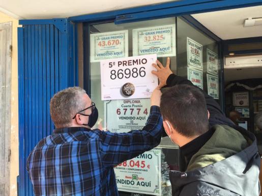 La administración de lotería de Santa Eulària que ha vendido un quinto premio.
