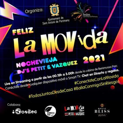 Cartel de la fiesta La Movida.