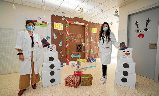 La decoración navideña ganadora del primer premio, que este año ha recaído en el departamento de Salud Laboral.