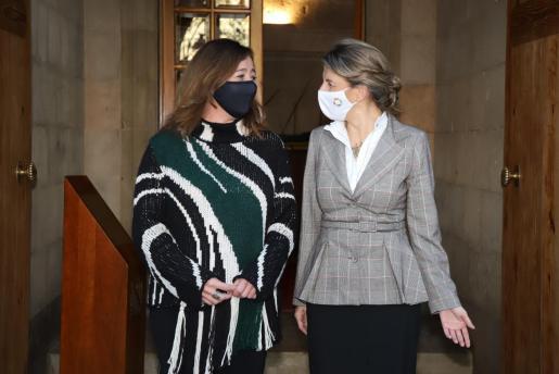 Reunión de la ministra Yolanda Díaz con Francina Armengol.