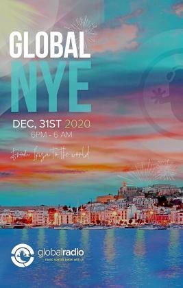 Cartel anunciador de la maratón de música que ofrecerá Ibiza Global Radio para despedir 2020 y recibir al año nuevo