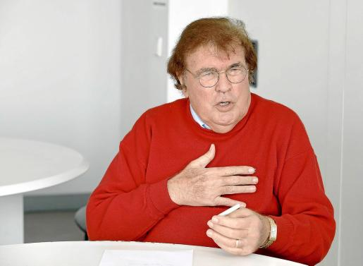 Miquel Bestard, durante la entrevista.
