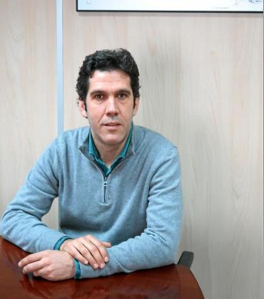Juan Calvo, en su despacho de Abaqua en Palma desde el que gestiona las infraestructuras hidráulicas de las islas.