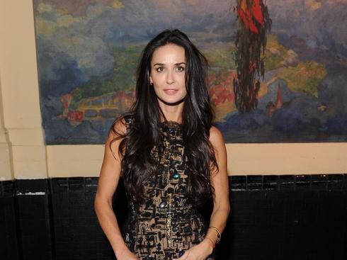 La actriz Demi Moore ha vuelto a aparecer en público tras su divorcio de Aston Kutcher.