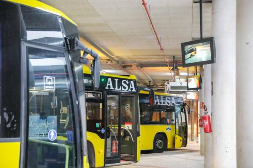 Imagen de archivo de la estación de autobuses de Ibiza.