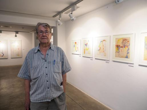 Rafael Tur Costa durante una de sus últimas exposiciones en Sa Nostra, en el año 2019.