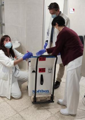 Esta mañana han llegado a Ibiza cerca de 1.000 vacunas contra el coronavirus.