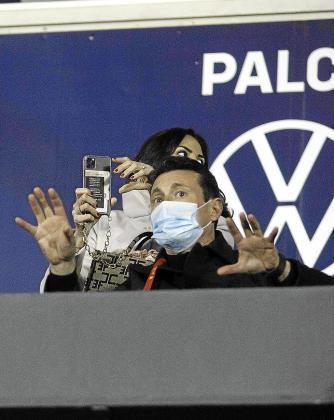 Amadeo Salvo, ayer en el palco del estadio de Can Misses.