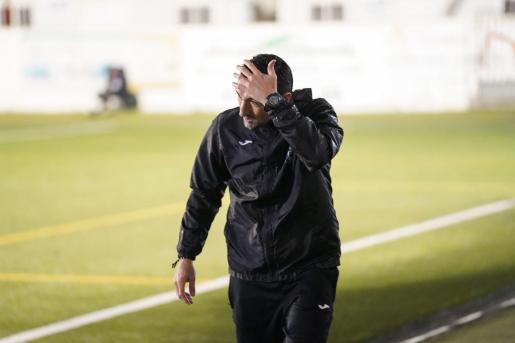 Raúl Casañ, ayer durante el encuentro de ayer de Copa del Rey.